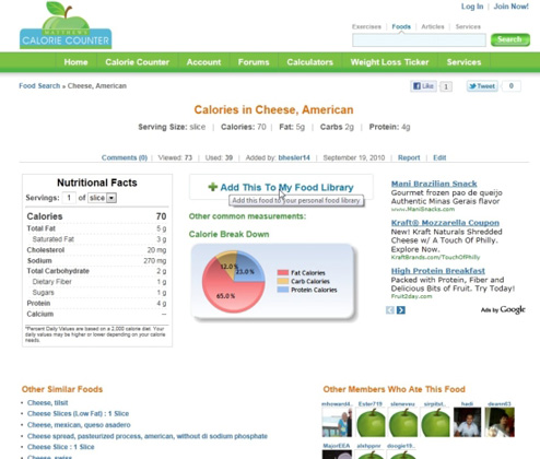 Food Result Page