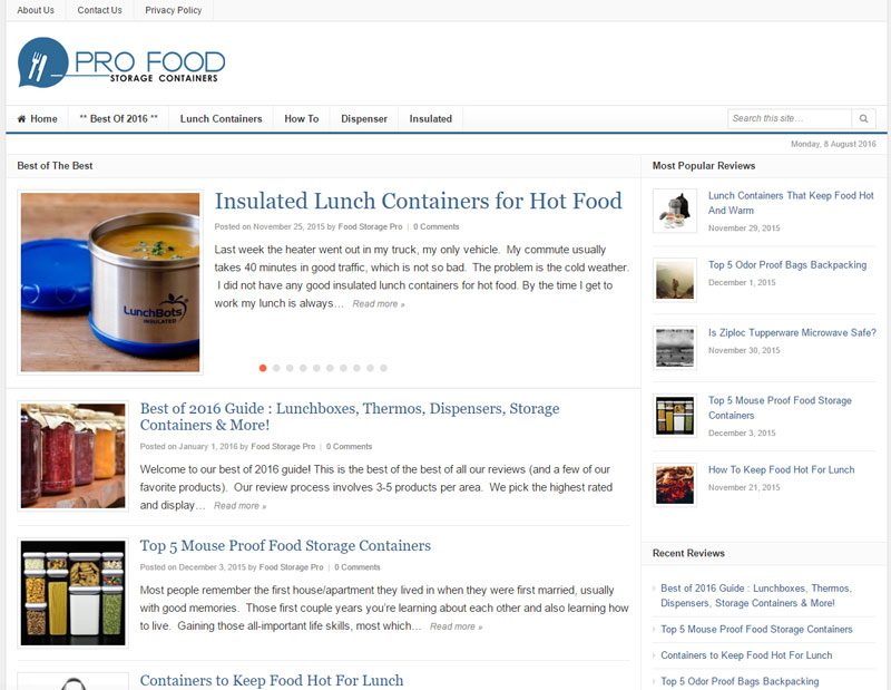 Pro Food Storage Containers Home